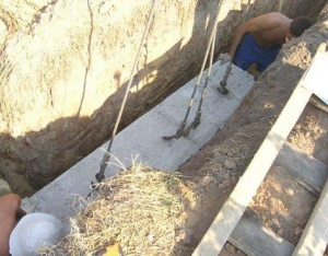 Ленточный сборный фундамент из железобетонных плит